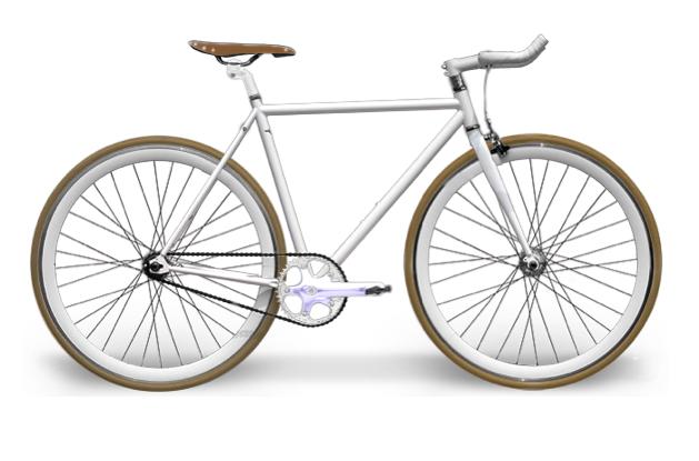 0345 Manubrio Bull Horn Corna Alluminio Bianco Per Bici 26 28 Fixed
