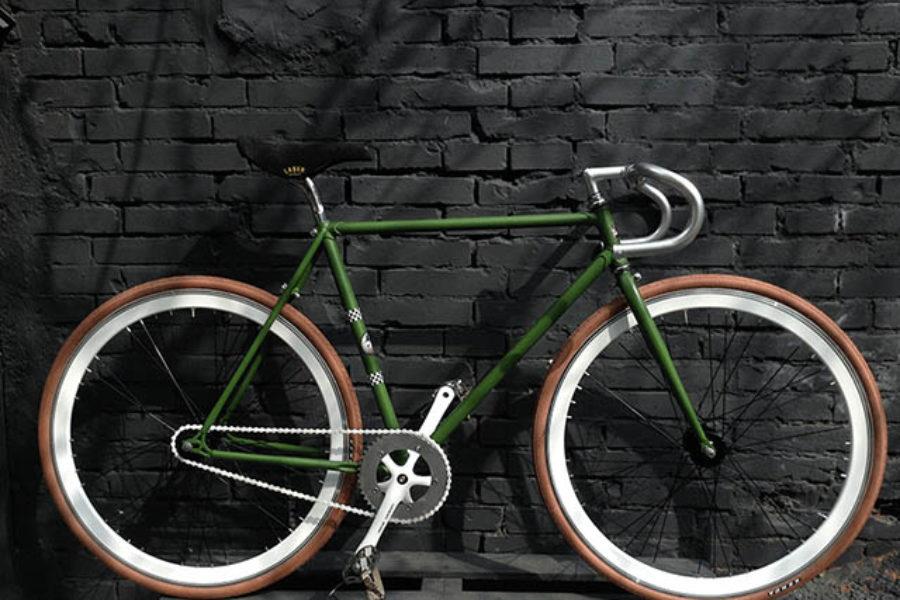 Bici Scattofisso Verde e Marrone
