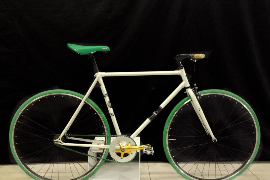 Bici scattofisso Verde e Oro
