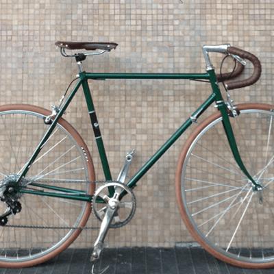 Ciclavia Bologna Bici Artigianale Verde Marrone