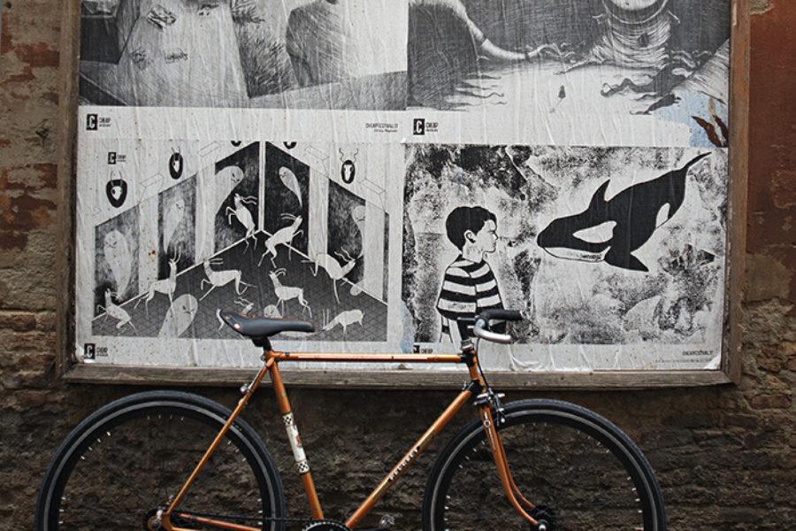Bici Artigianale Rebuilt Peugeot con ruote contropedale