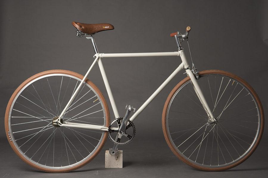 Bici urban single speed bianca opaca