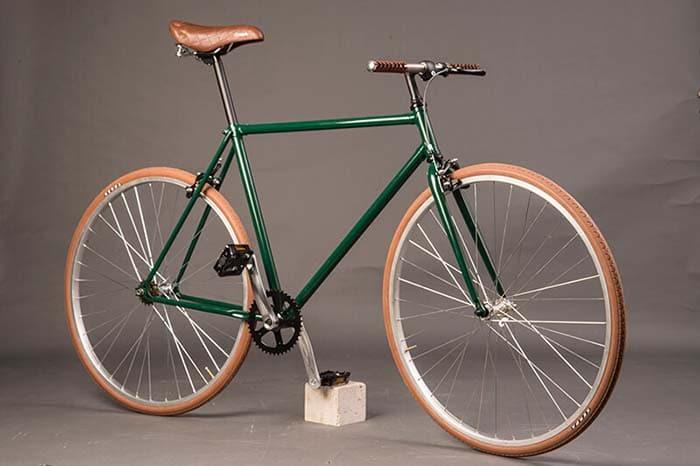 Ciclavia Bologna Bici Urban verde inglese marrone pelle