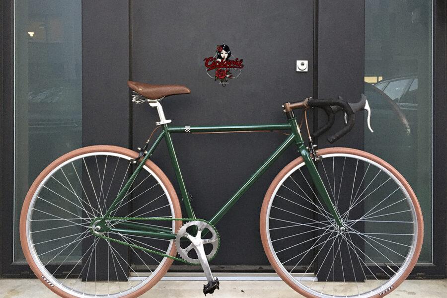 Bici Urban single speed  verde inglese